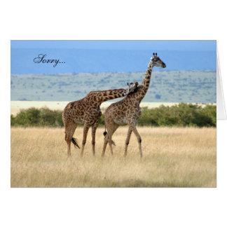 O girafa lamenta o cartão