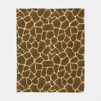O girafa mancha a pele animal do estilo selvagem cobertor de lã