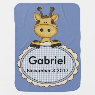 O girafa personalizado de Gabriel Cobertores De Bebe