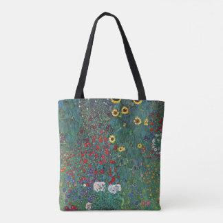 O girassol por Klimt, vintage de Farmergarden w Bolsas Tote