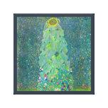 O girassol por Klimt, vintage floresce a arte Impressão De Canvas Esticada