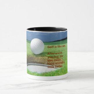 O golfe é como a caneca de café