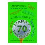 O golfe graceja cartão de aniversário para pessoas