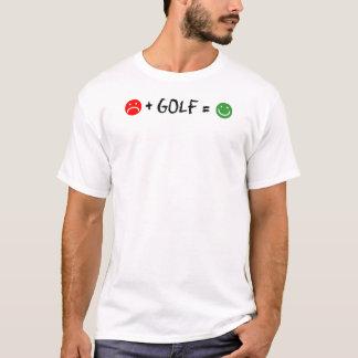 O golfe positivo iguala a cara feliz camiseta