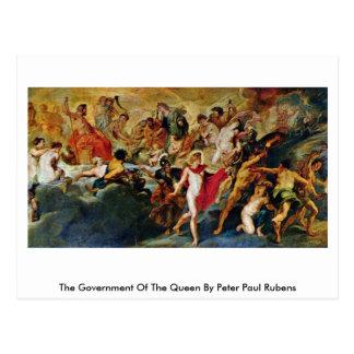 O governo da rainha por Peter Paul Rubens Cartão Postal