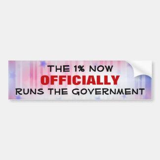 O governo de um por cento adesivo para carro