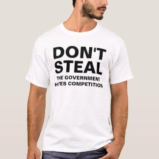 O governo deia a competição camiseta
