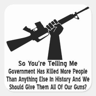 O governo matou mais pessoas da AR Adesivo Quadrado