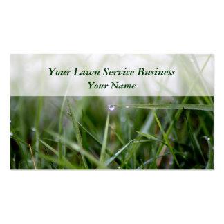 O gramado presta serviços de manutenção a cartões  modelo de cartões de visita