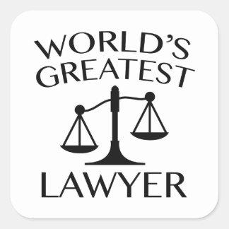 O grande advogado do mundo adesivo quadrado