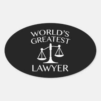O grande advogado do mundo adesivo oval