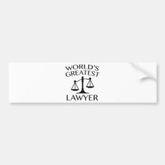 O grande advogado do mundo adesivo para carro