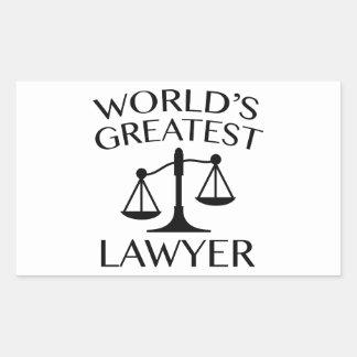 O grande advogado do mundo adesivo retangular