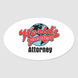 O grande advogado dos mundos adesivo oval