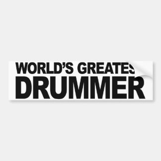 O grande baterista do mundo adesivo para carro
