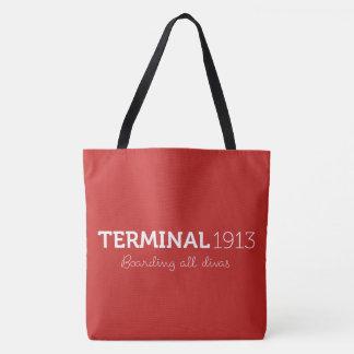 O grande bolsa vermelho do terminal 1913