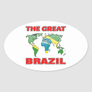 O grande BRASIL Adesivo Oval