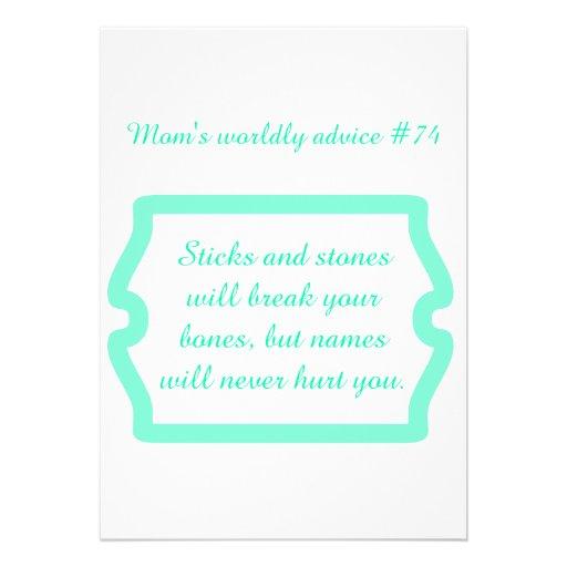 O grande conselho da mãe em t-shirt & em presentes convites