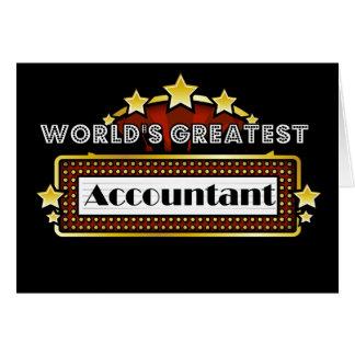 O grande contador do mundo cartão comemorativo