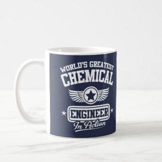 O grande engenheiro químico do mundo na ação caneca de café