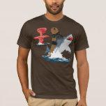O grande escape - cavalaria do tubarão do urso camiseta