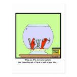 O grande escape: Desenhos animados do peixe dourad Cartoes Postais