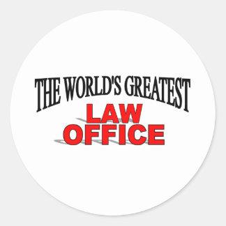 O grande escritório de advogados do mundo adesivo