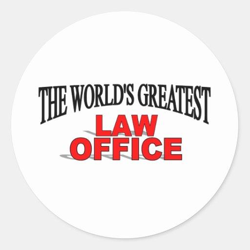 O grande escritório de advogados do mundo adesivo em formato redondo