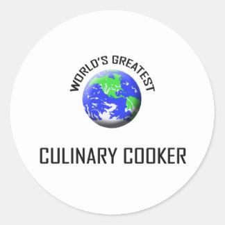 O grande fogão culinário do mundo adesivos redondos