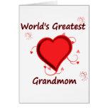 O grande grandmom do mundo cartao