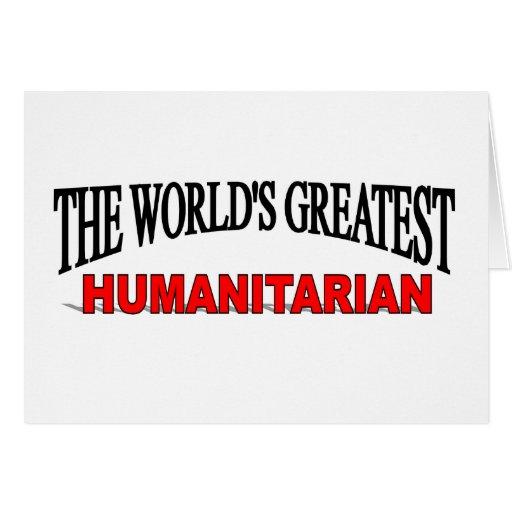 O grande humanitário do mundo cartões