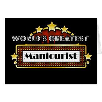 O grande manicuro do mundo cartão comemorativo