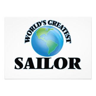 O grande marinheiro do mundo convite personalizado