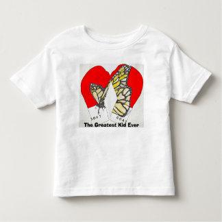 O grande miúdo nunca com as luvas de camisetas