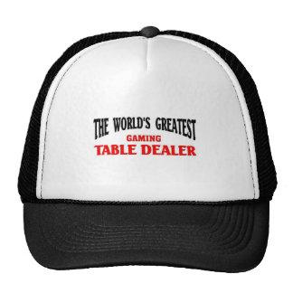 O grande negociante da mesa de jogo bone
