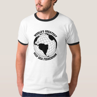 O grande pescador do mar profundo camiseta