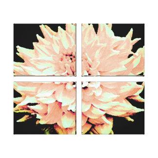 O grande pêssego cora dália impressão em tela