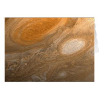 O grande ponto vermelho de Jupiter do cartão do
