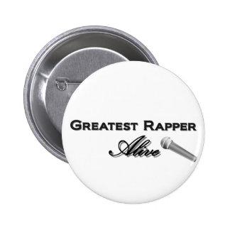 O grande rapper vivo bóton redondo 5.08cm