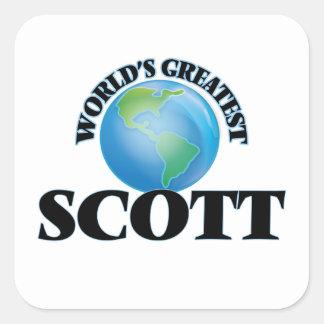 O grande Scott do mundo Adesivos Quadrados