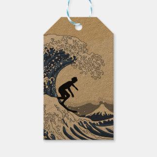 O grande surfista de Kanagawa Etiqueta Para Presente