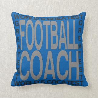 O grande treinador de futebol dos mundos almofada