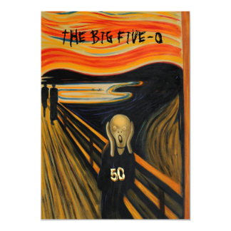O gritar - 50th aniversário engraçado convite 12.7 x 17.78cm