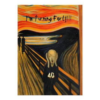 O gritar - aniversário de 40 anos engraçado
