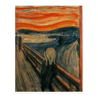 O gritar - Edvard Munch 1893 Cartão Postal