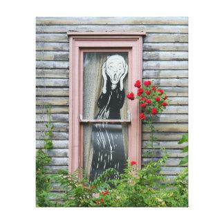 O gritar em uma janela impressão de canvas envolvidas