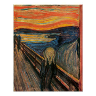O gritar por Edvard Munch Pôster