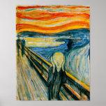O gritar por Edvard Munch Posteres
