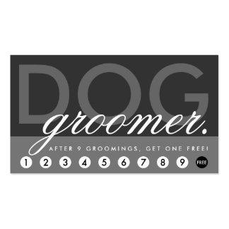 o groomer do cão recompensa o programa cartão de visita