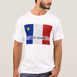 O Grunge afligido da bandeira sobrenome acádico Camiseta